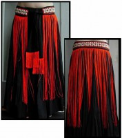 Cowrie Long Fringe Belt-1